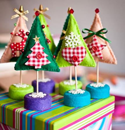 动动手,用纸折个美丽圣诞树.