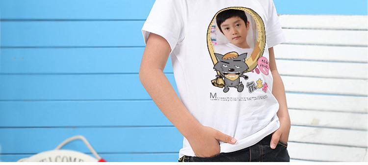 卡通16-纯白童装t恤