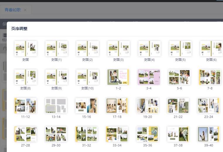 页序及布局调整
